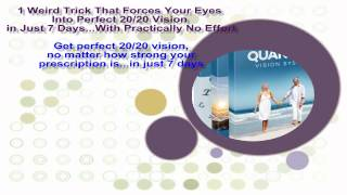 Get perfect 20/20 vision, no matter how strong your prescription is...in just 7 days