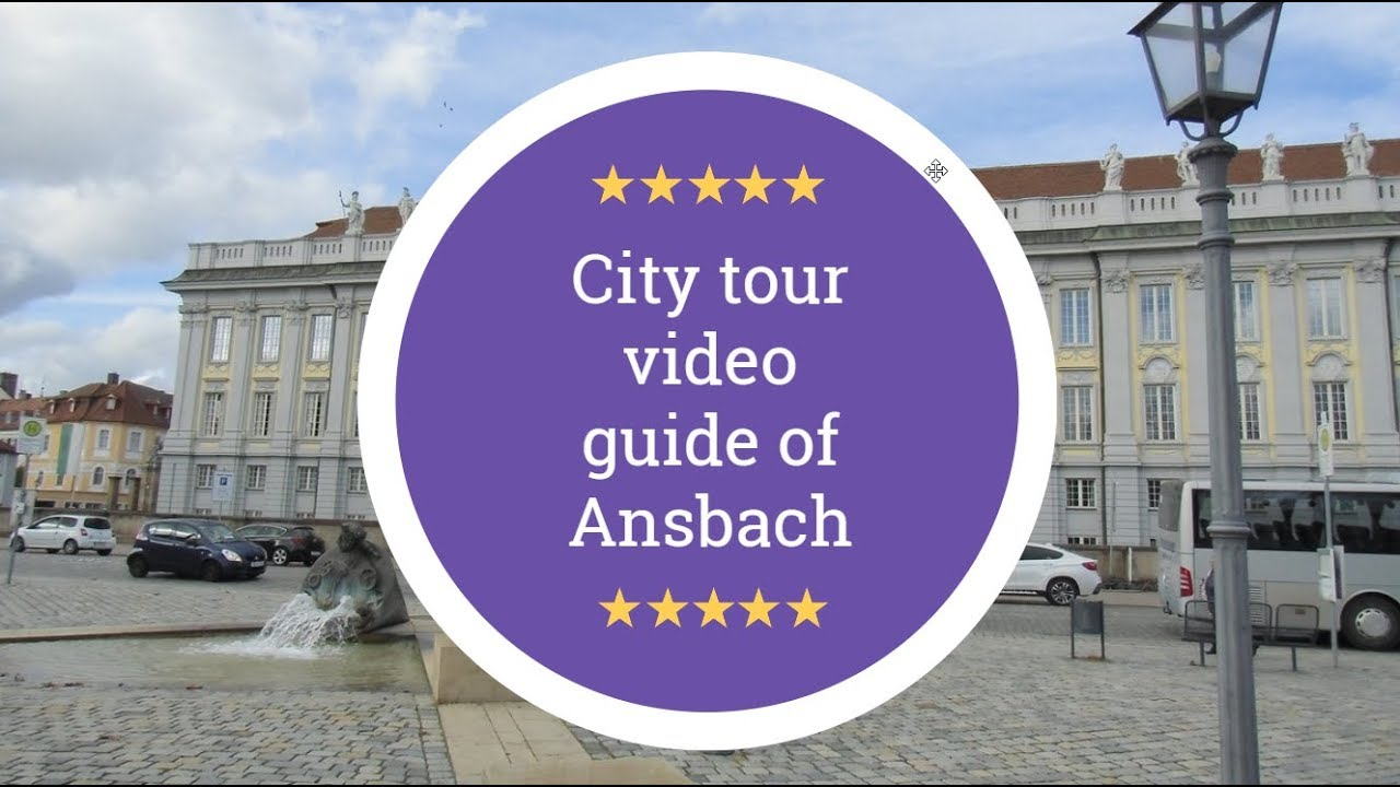 City tour with guide for Ansbach in GERMANY