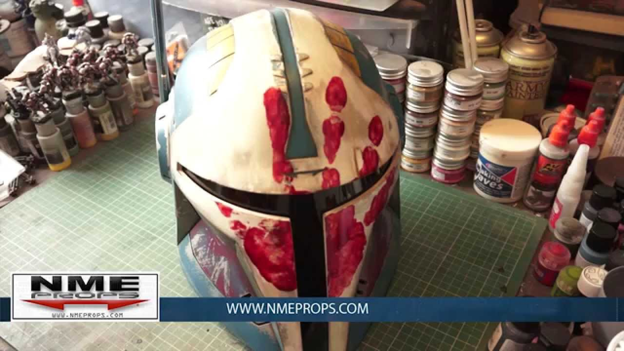 how to make a mandalorian helmet out of a bucket