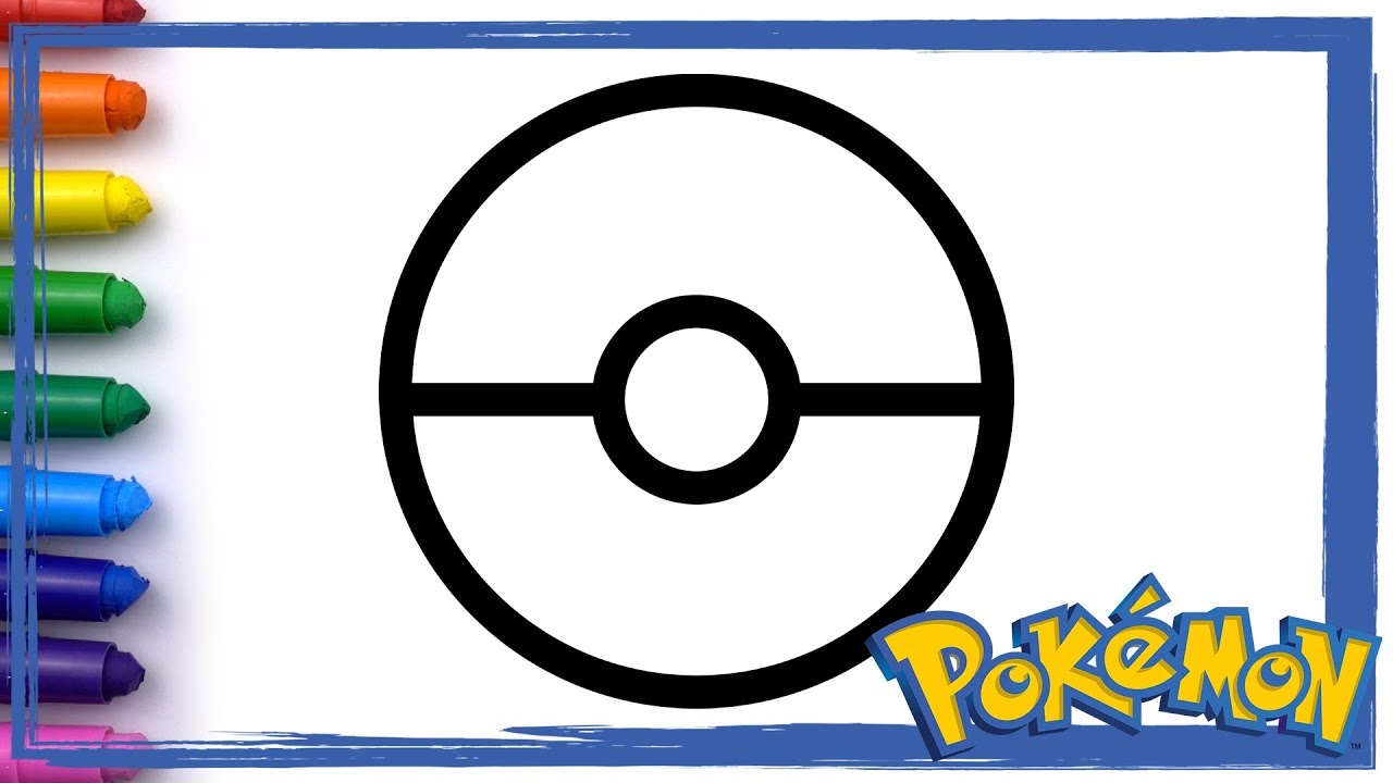 4 Pokemon Pokeball With Pikachu Drawing And Coloring Pages For