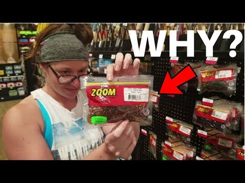 WIFE Picks My Lures Fishing Challenge!!! (She Picked WHAT???)