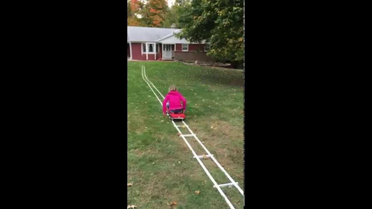 build your own portable roller coaster youtube