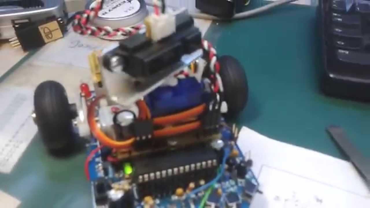 Ir entfernungsmesser auf servo montiert asuro robot youtube