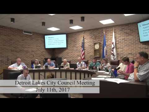 City of Detroit Lakes July 2017 Council Meeting
