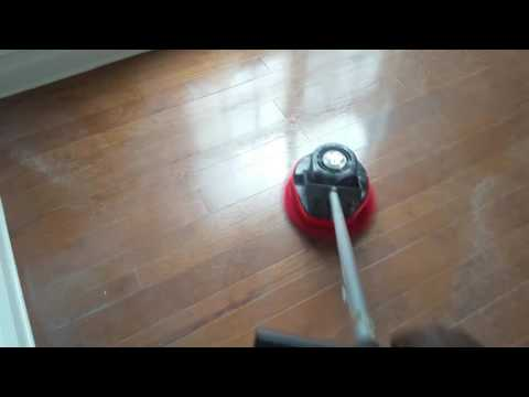 Hardwood floor cleaning & refinishing by Courtney