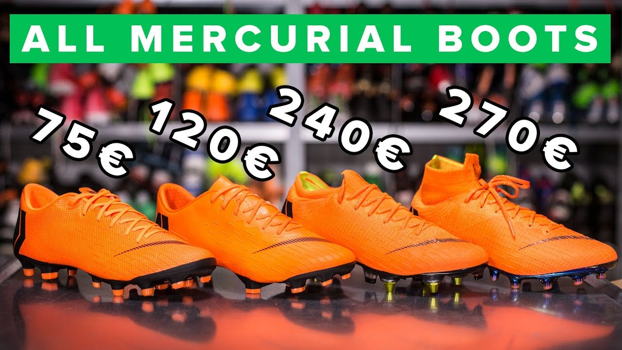 detailed look d90c6 1cebd CHEAP vs EXPENSIVE   All Nike Mercurial boots explained  Elite, Pro or  Academy