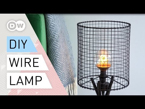 DIY - How to make a wire mesh lamp | Tutorial industrial lamp quick and easy