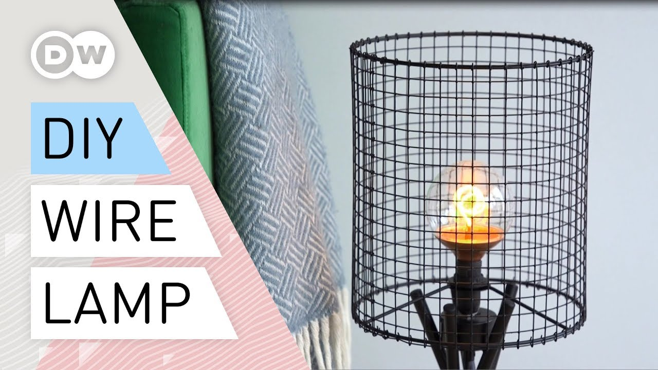 DIY wire and to make a mesh How quick easy lampTutorial industrial lamp iwPkXuTZO