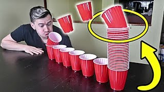 IMPOSSIBLE CUP BLOWING CHALLENGE!!