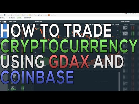 How to Trade Cryptocurrency on GDAX | Tutorial | How to Get Started
