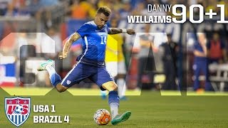 MNT vs. Brazil: Danny Williams Goal - Sept. 8, 2015