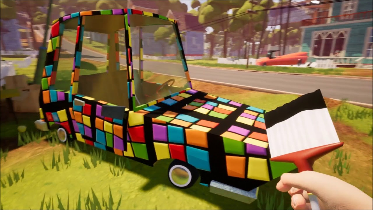 painting the player car hello neighbor youtube. Black Bedroom Furniture Sets. Home Design Ideas