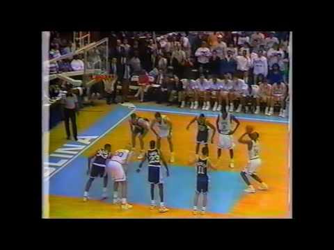 UNC HOOPS 1992 02 05 vs DUKE bloody montross 0 04 23