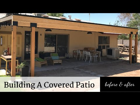 Building A Covered Patio | Before & After