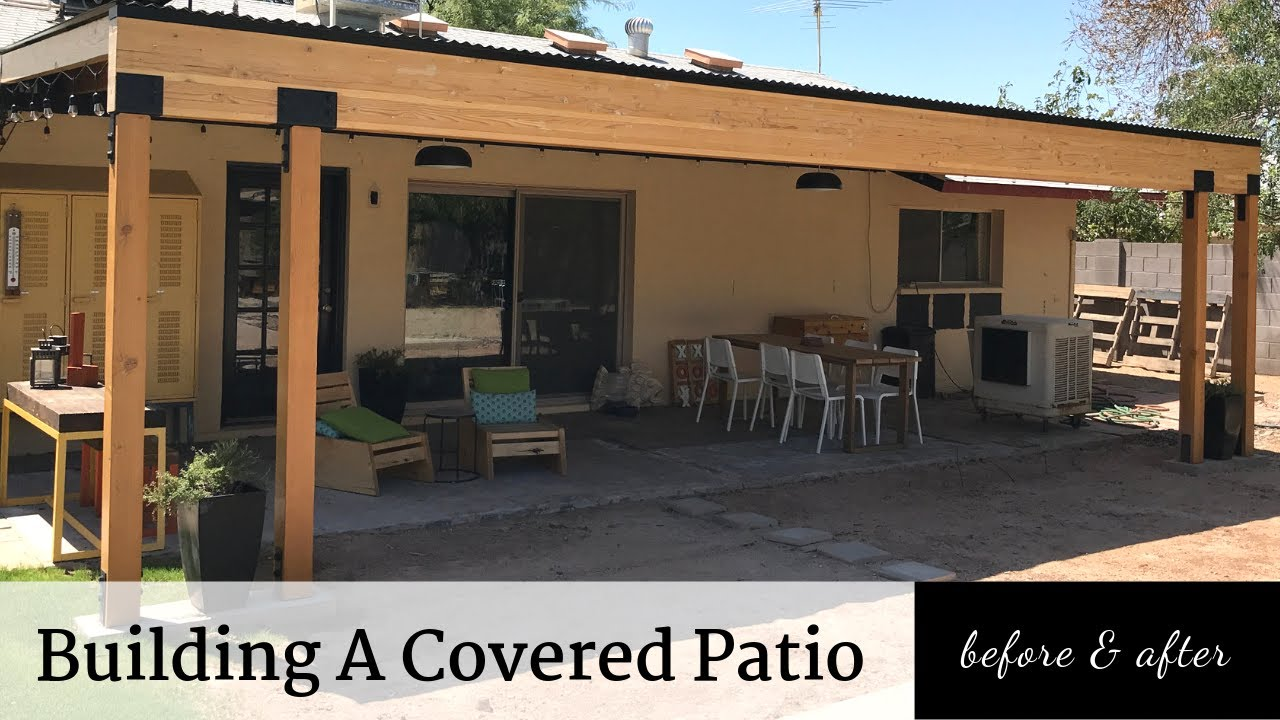 building a covered patio before after