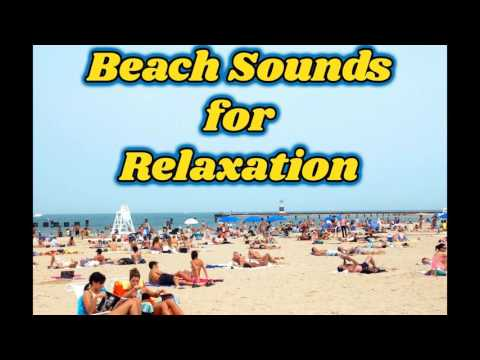 free white noise of beach sounds with people for relaxation
