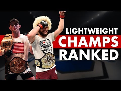 All UFC Lightweight Champions: Ranked Worst To Best