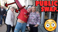 CLOTHES SWAP CHALLENGE WITH MY DAD IN PUBLIC!!! *embarrassing* 😭