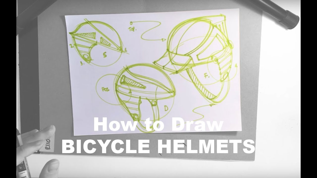 Design Sketching 101 How To Draw A Composition Bicycle Helmets