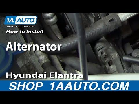 How To Install Replace Alternator 2001 06 Hyundai Elantra 20l