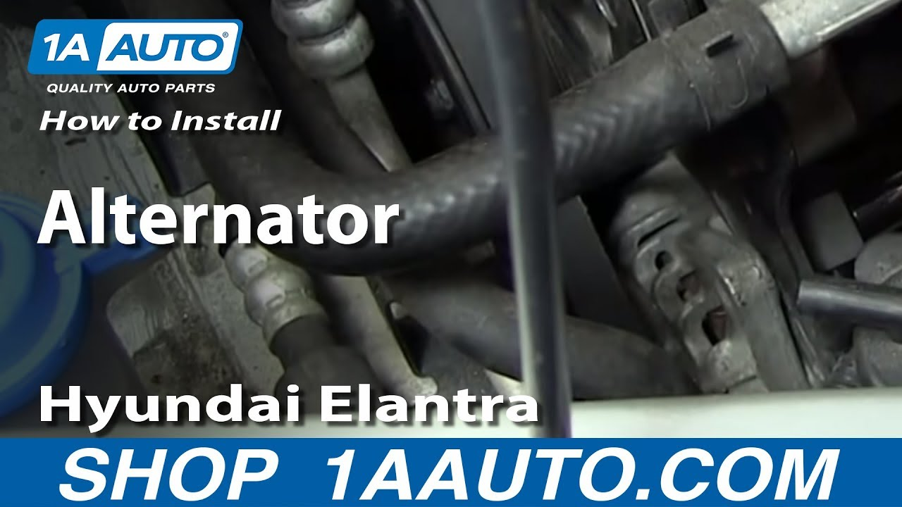 How To Install Replace Alternator 2001 06 Hyundai Elantra 20l Youtube Wiring Diagram For