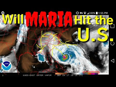Will hurricane Maria miss the east coast? September 24, 2017, NOAA satellite images