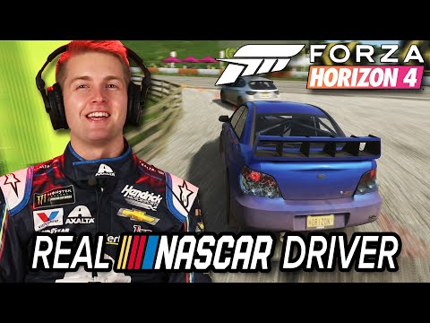 Real NASCAR Driver Races In Forza Horizon 4  Professionals Play