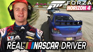 Real NASCAR Driver Races In Forza Horizon 4 • Professionals Play