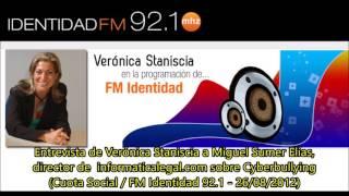 Entrevista radial a Miguel Sumer Elías sobre cyberbullying (FM Identidad, 26/08/2012)