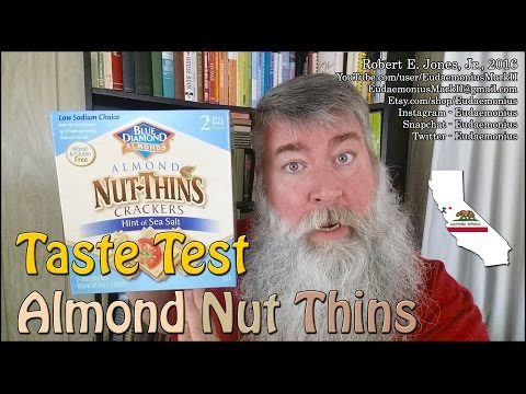 Taste Test - ALMOND NUT THINS CRACKERS - Day 17,067