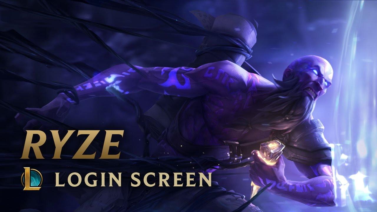 Ryze, the Rune Mage | Login Screen - League of Legends ...