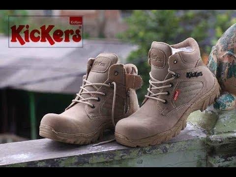Unboxin sepatu Kickers delta boots kualitas ok