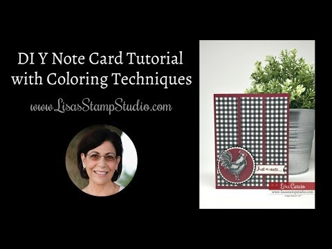 DIY Note Card Tutorial with Coloring Techniques