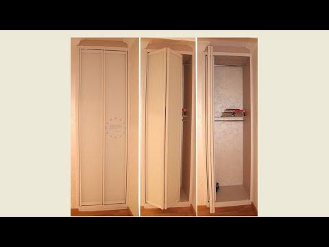 Складные двери система Kraft (Крафт). Встроенный шкаф в нишу. Мебель в Киеве