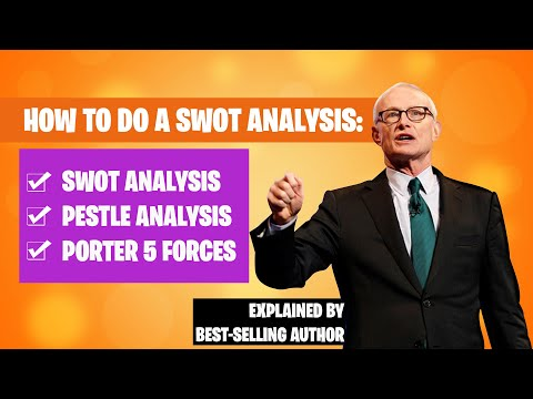 SWOT Analysis: How To Do a SWOT Analysis, PESTLE Analysis, Porter 5 Forces