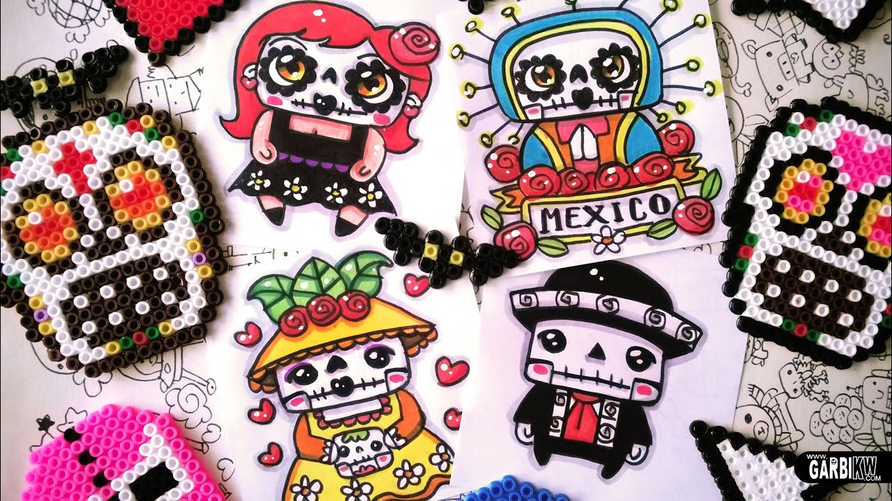 Mario Wall Sticker Day Of The Dead Drawings How To Draw Kawaii Mexico By