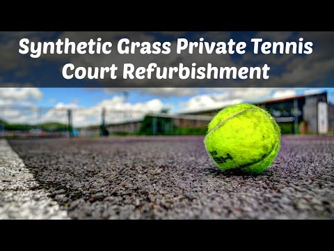 Synthetic Grass Private Tennis Court Refurbishment