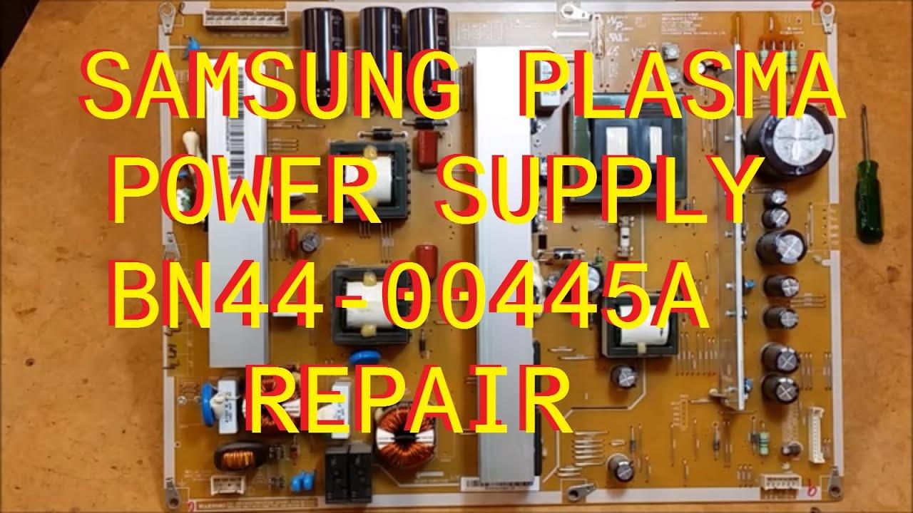 Samsung Plasma Power Supply Repair Bn44 00445a Factor Engineering Schematics Flat Screen Correction Youtube