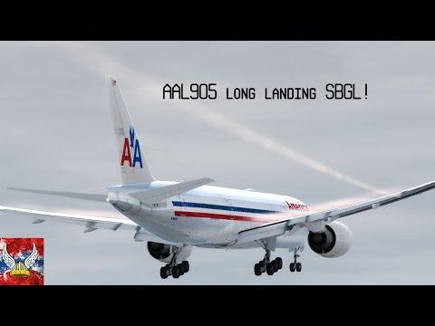  P3D v4   AAL905 long landing into SBGL! HD