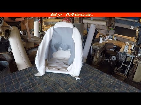 How to make a Mastercraft boat seat cover | How to make a Captain Seat cover. Boat Upholstery.