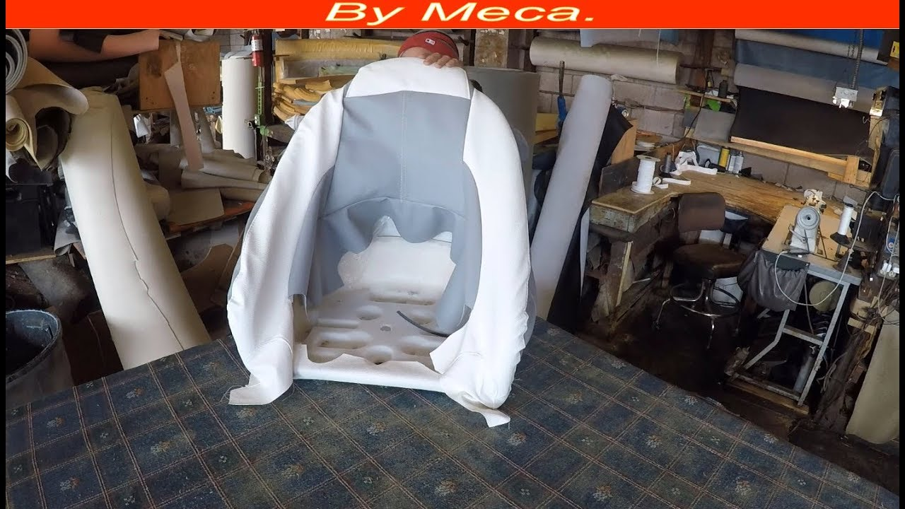 How to make a Mastercraft boat seat cover   Boat Upholstery