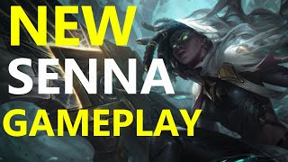 NEW SENNA LEAGUE OF LEGENDS GAMEPLAY SUPPROT AND LUCAIN BOTLANE!