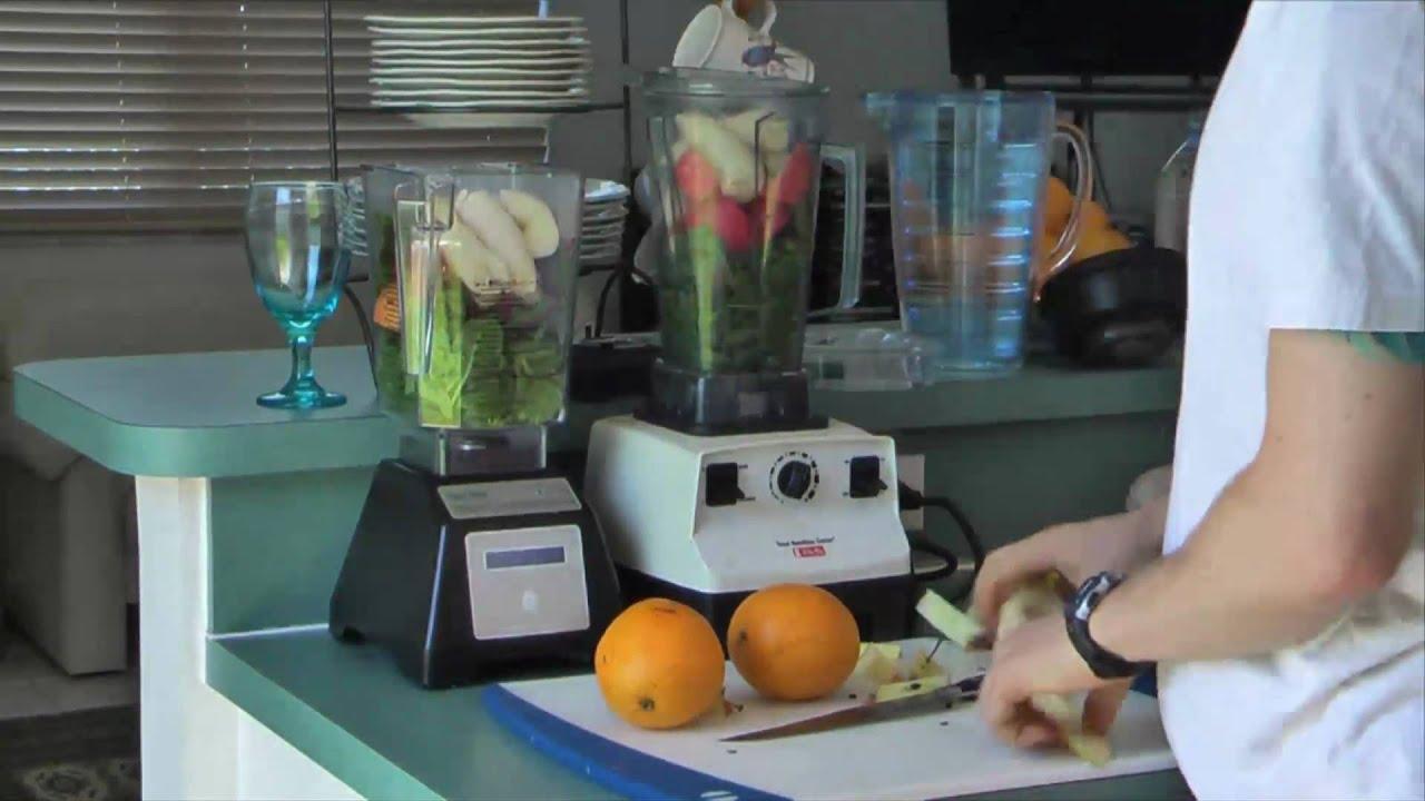 Green Smoothies Vitamix Vs Blendtec Youtube