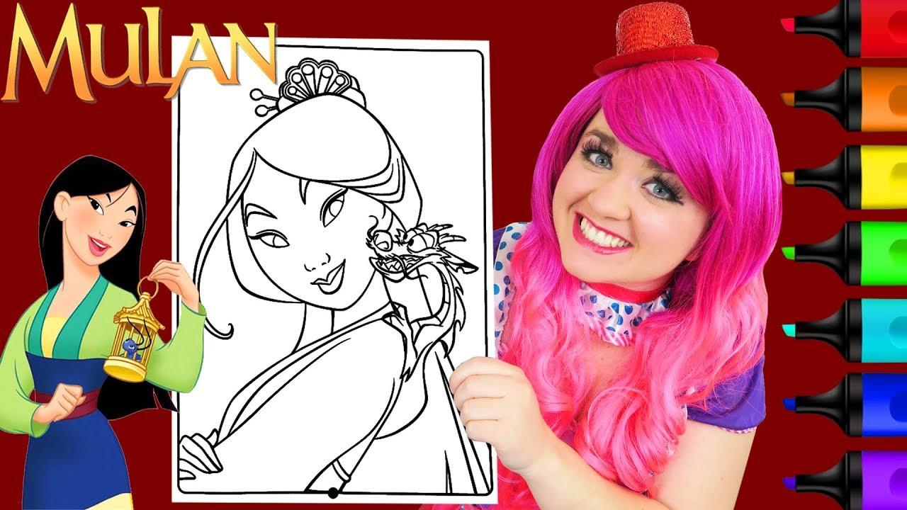 Coloring Mulan Mushu Disney Princess Coloring Page Prismacolor