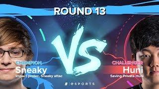 Versus Round 13: Huni's Escape (Challenger) vs. Sneaky's Multi-Kill (Champion)