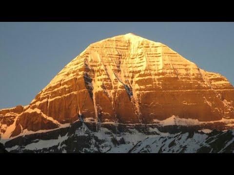 Kailash Mountain | Manasa Sarovar Golden mountain | Lord shiva mountain at Manasa sarovar
