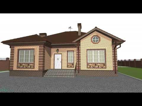Проект одноэтажного дома на 3 спальни   B-018-ТП