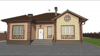 Проект одноэтажного дома с тремя спальнями: чертежи, фото и видео