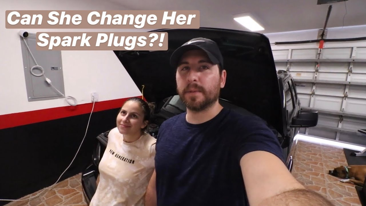 Girlfriend Changes Spark Plugs 2016 Jeep Patriot Youtube
