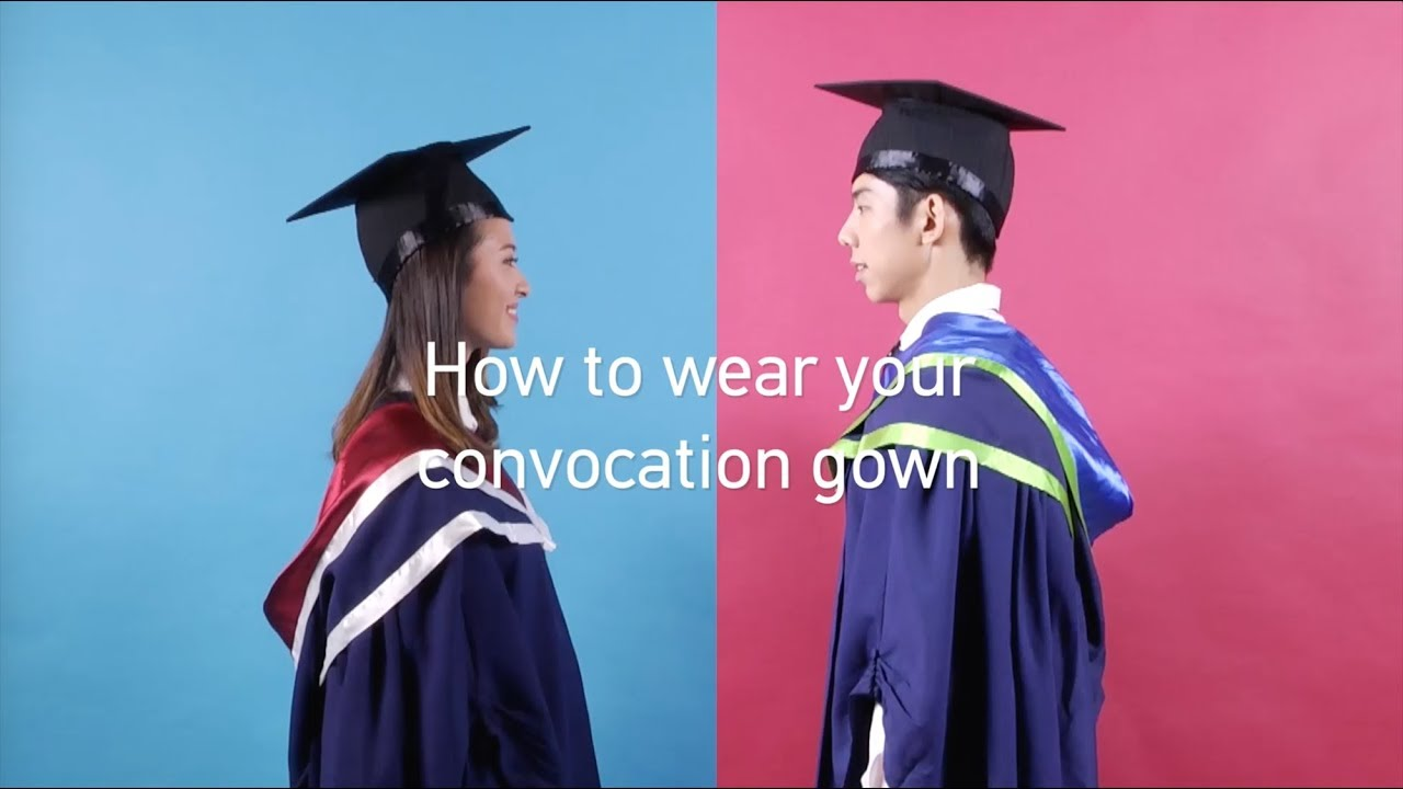 How to wear your graduation gown - YouTube